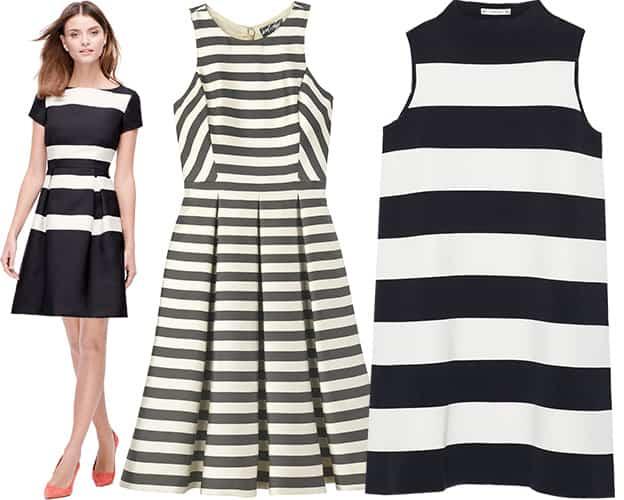 Striped summer cocktail dresses
