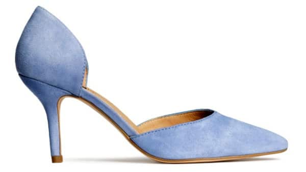 high heel trends - pastel blue d'orsay heel