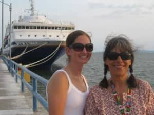 Evelyn (right) at Sea for 108 days (Courtesy: Journey Woman)