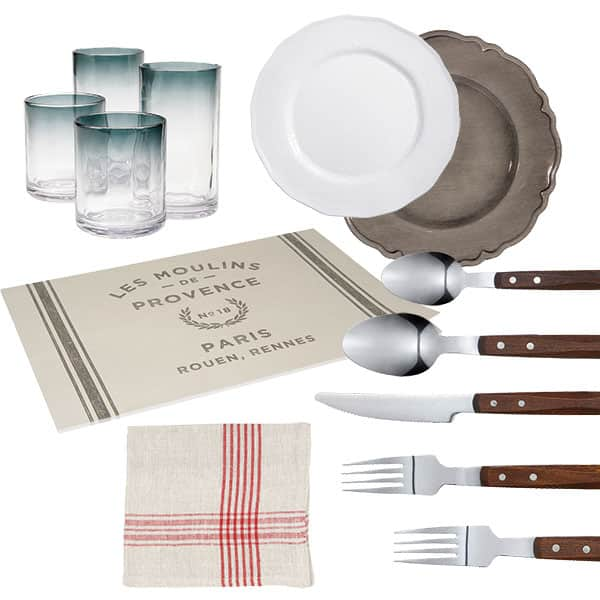 french accents tableware