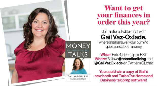 Twitter chat with Gail Vaz-Oxlade