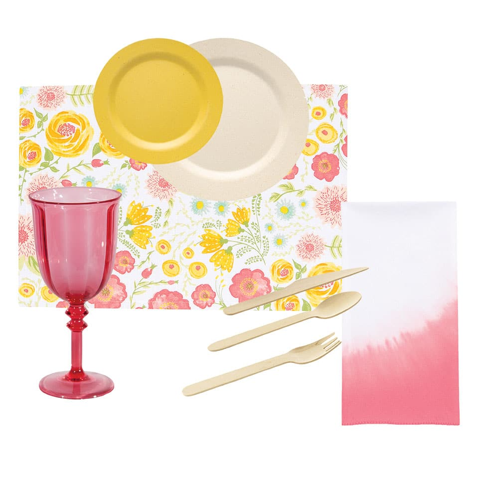 garden party tableware