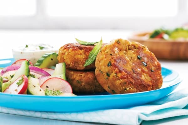 Smoky Lentil Patties with Cucumber Slaw