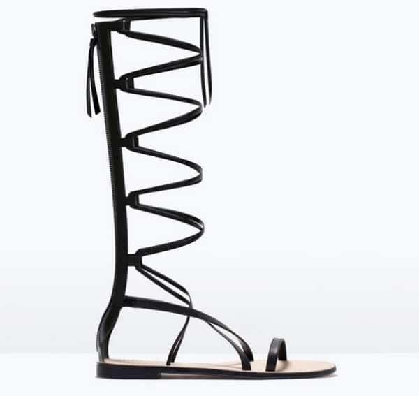 Sandal trends - Zara gladiator sandals