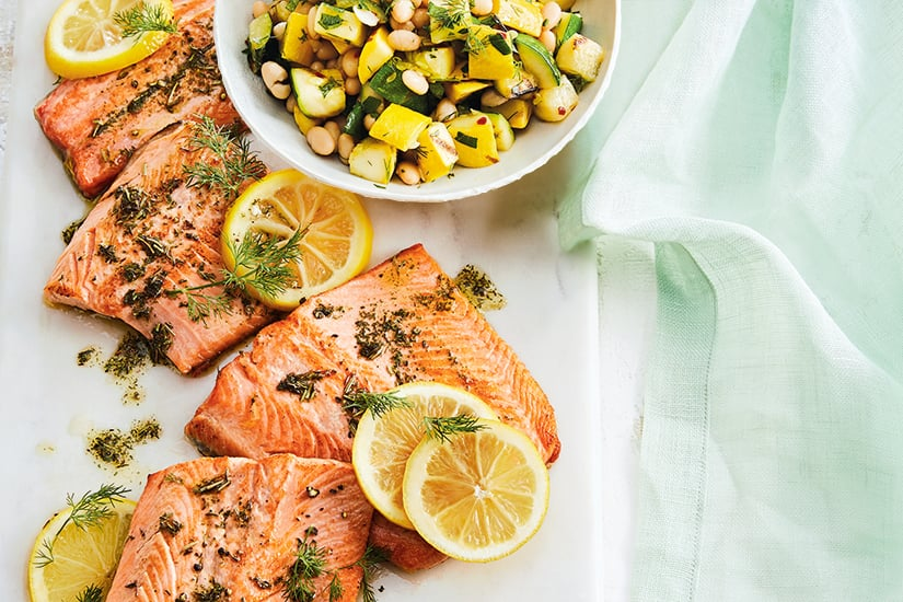 Rainbow Trout With Squash Medley