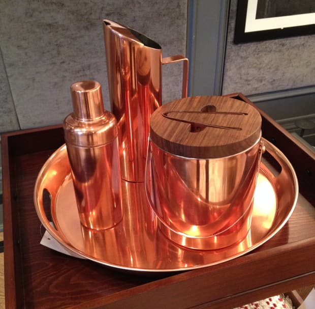 Copper barware from Target