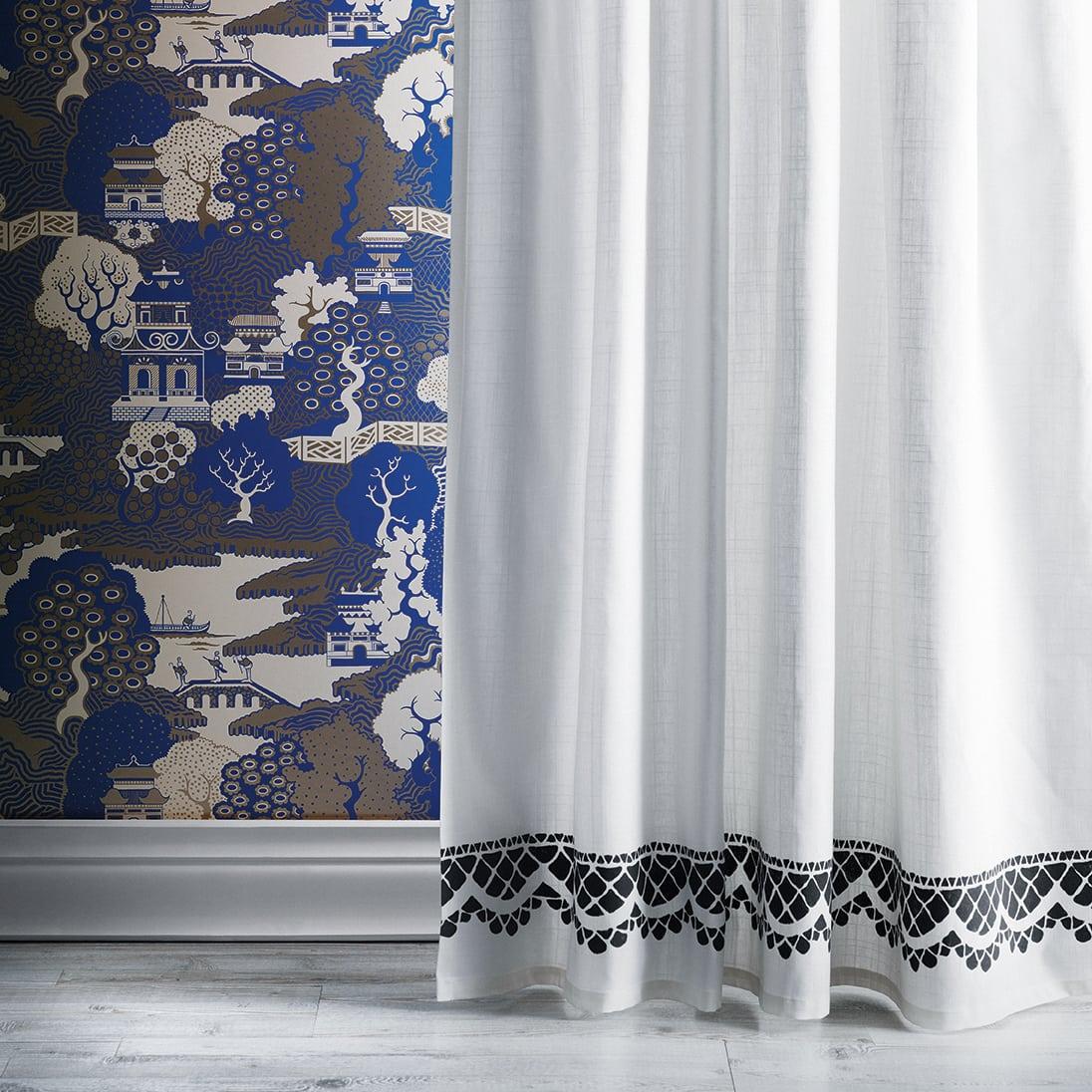 boehmian lace curtain trim