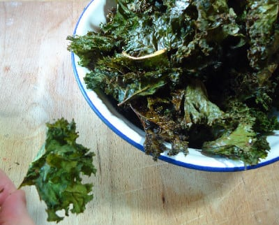 Kale chips: crunch factor 1000!