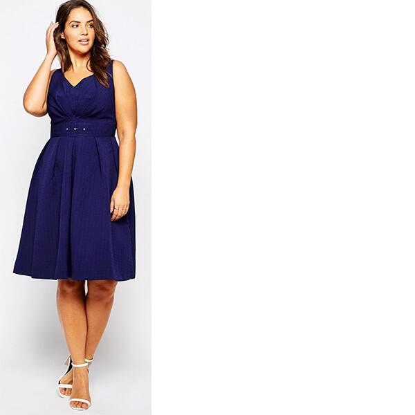 Asos navy plus-size dress
