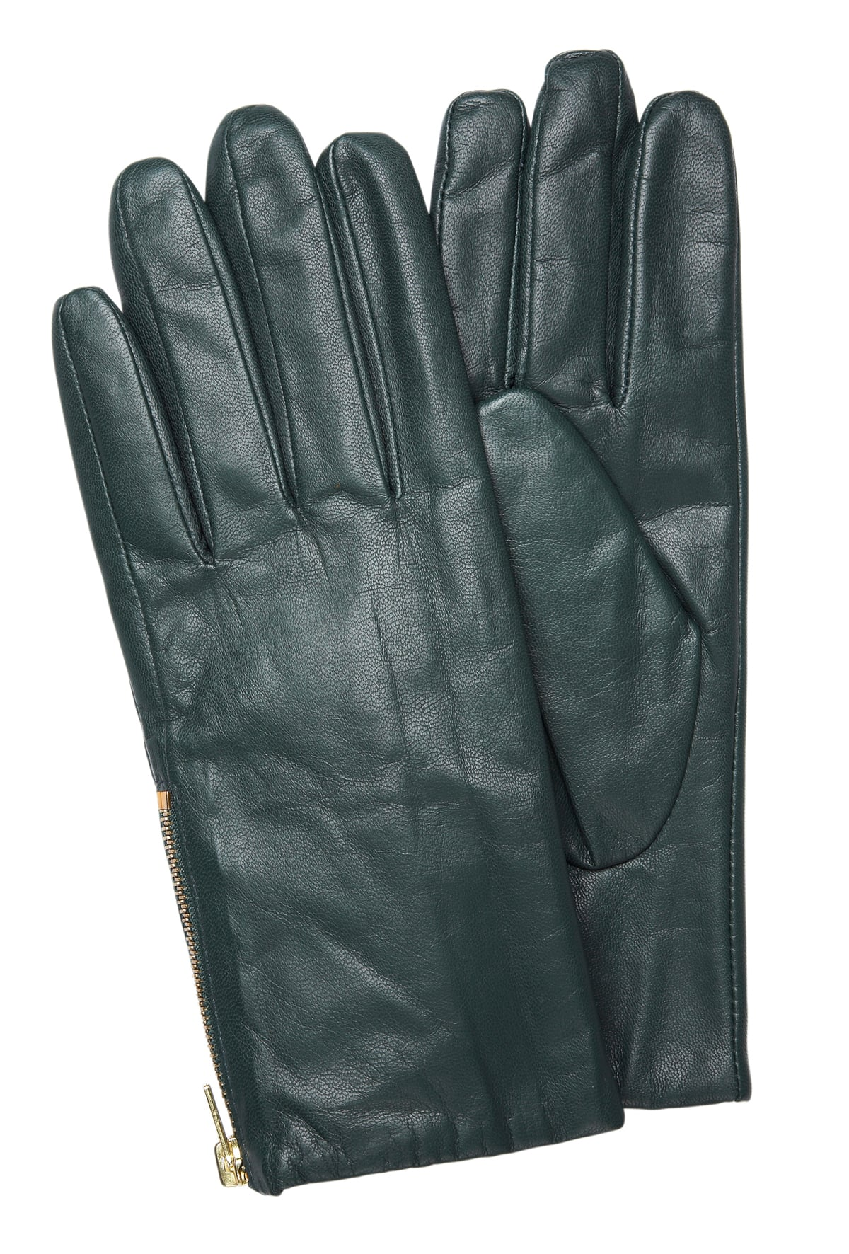 Banana Republic Leather Gloves in Emerald