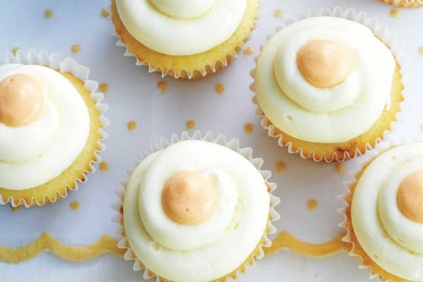 sunny-side cupcakes