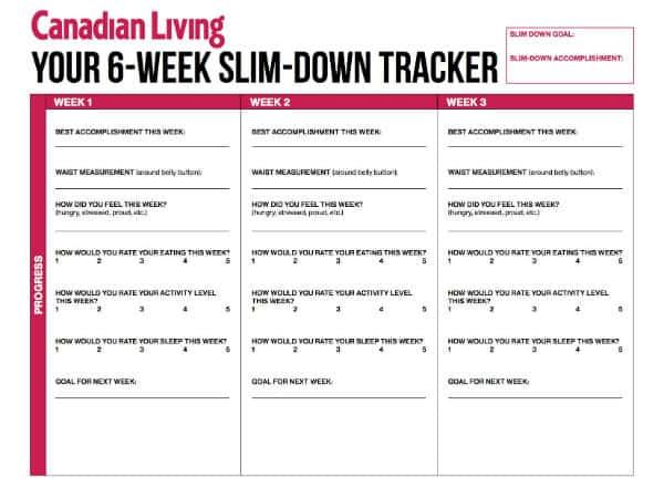 Your 6-Week Slim-Down Tracker