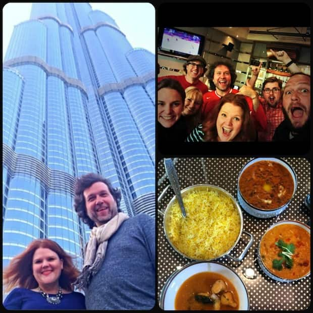 Annabelle Waugh and Chef Michael Smith in Dubai