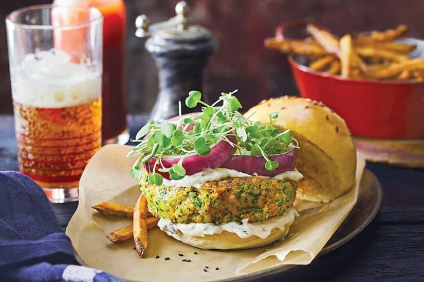 Broccoli Cheddar Veggie Burgers