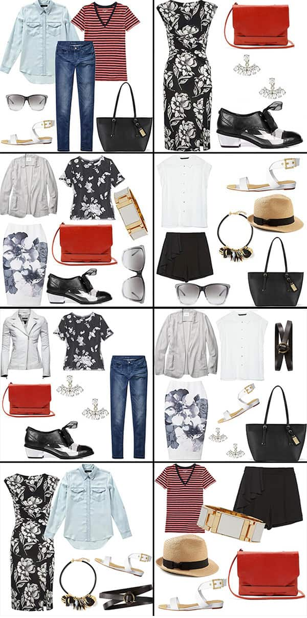 8 outfits to pack for a city sightseeing trip