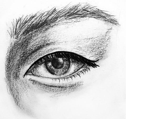 Monolid eye shape