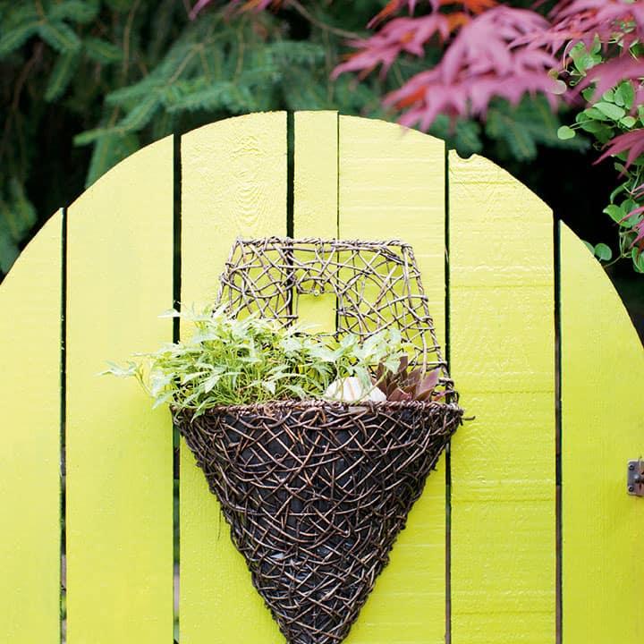 colourful garden gate