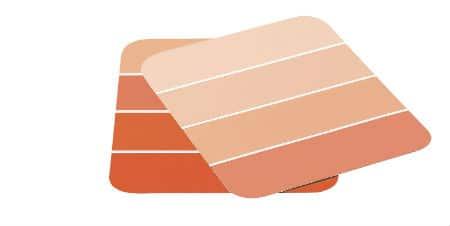 Let paint chips themselves inform you colour selection for an ombré paint treatment.