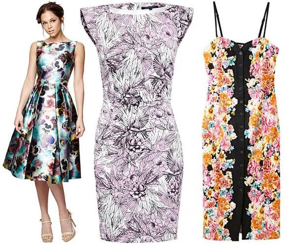 Floral cocktail dresses for summer