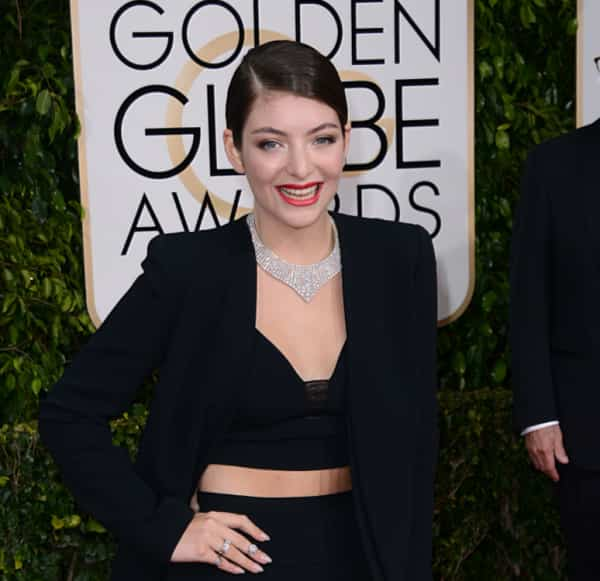 Lorde Red Carpet Golden Globes 2015