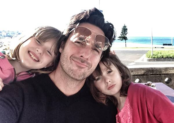 Mike Ward with his daughters