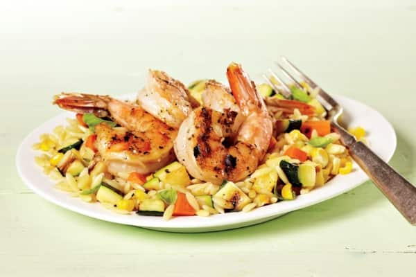 cajun shrimp vegetable orzo
