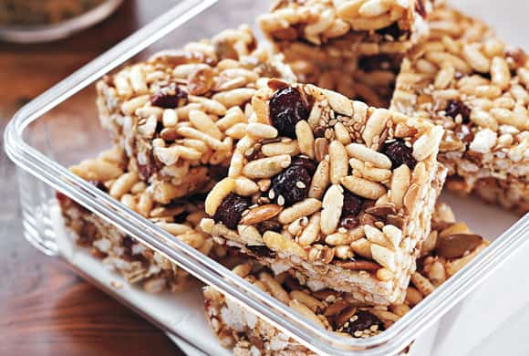 Outside the box: 10 fun recipes with cereal - Multiseed Cranberry Energy Bars