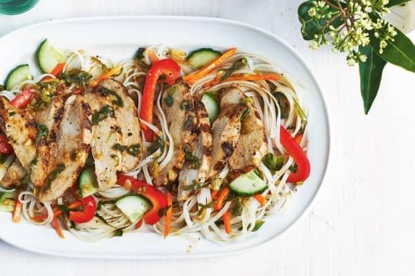 spicy ginger noodle salad