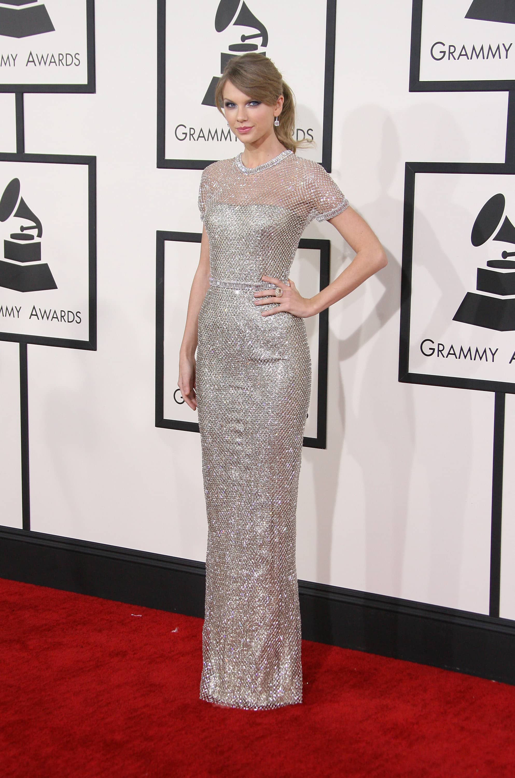 Taylor Swift at the 2014 Grammy Awards, Photo by Keystone Press