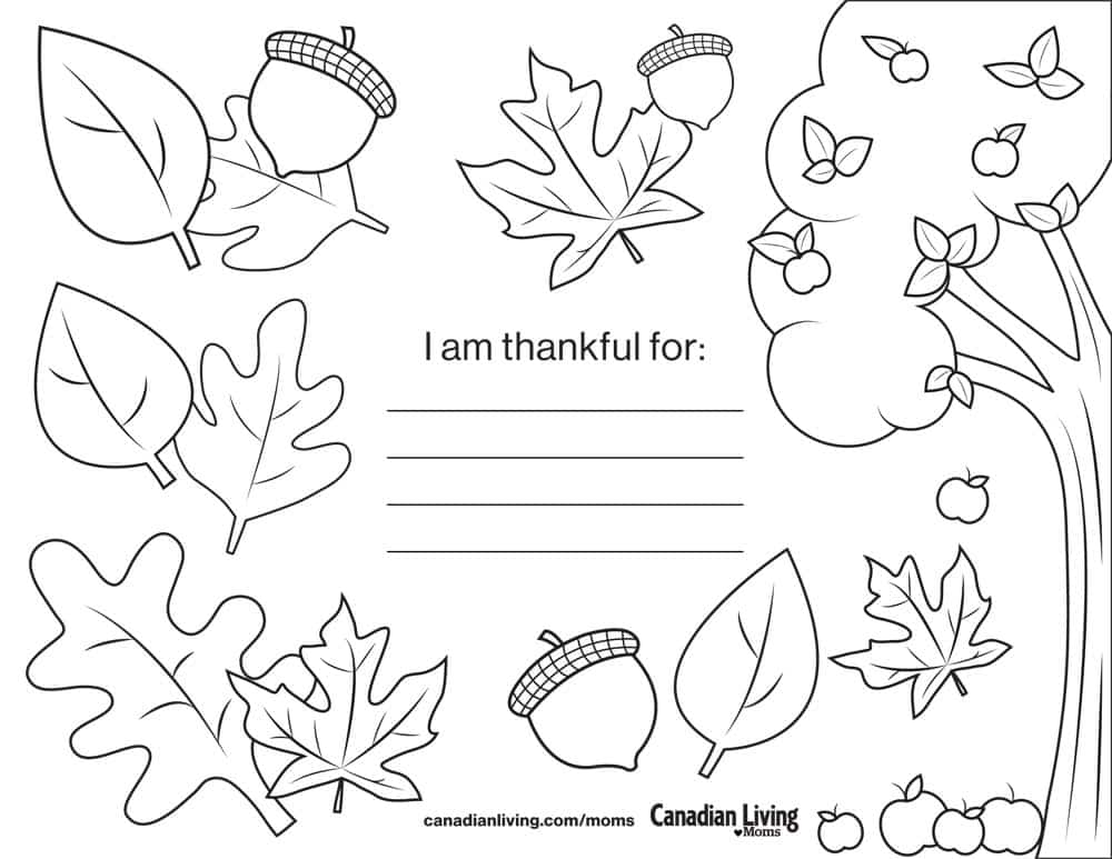 Free downloadable Thanksgiving placemat