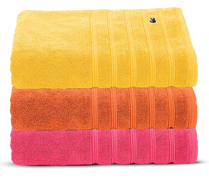lacoste towels