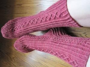 Jewel-toned 14 Karat socks.