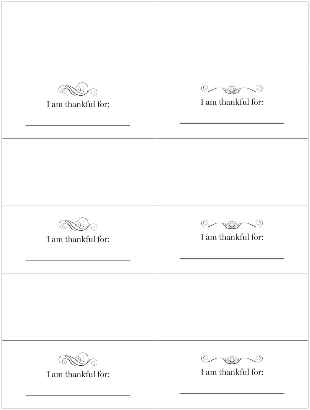 Free downloadable Thanksgiving placecards