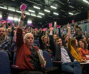 Congrès 2019, «Prendre le pouvoir, Transformer le Québec», de Québec solidaire au cégep Édouard-Montpetit à Longueuil, près de Montréal, samedi le 16 novembre 2019.