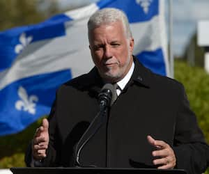 L'ancien premier ministre, Philippe Couillard