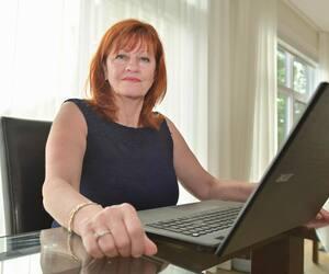Murielle Poitras, propriétaire de l'agence de rencontre Accord.