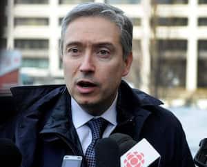 Le ministre des Affaires étrangères François-Philippe Champagne
