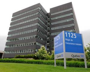 L'édifice de la Régie de l'assurance maladie du Québec, sur la Grande Allée, à Québec