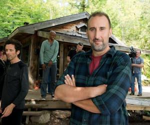 Martin Petit sur le plateau de l'émission Les pêcheurs en 2014
