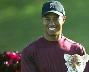 Tiger Woods en Californie avec son père, Earl Woods, en 2004.