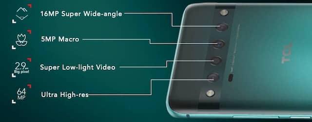 Téléphone intelligent TCL 10 Pro