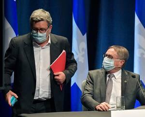 Le maire de Québec, Régis Labeaume, et le maire de Lévis, Gilles Lehouillier