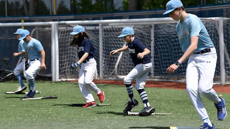 Baseball: sourires et hygiène au menu des premiers entraînements