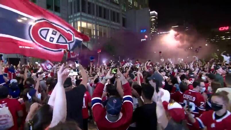 La victoire des Canadiens en images