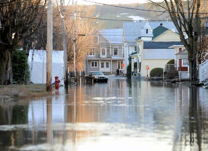 Inondation à Sainte-Marie de Beauce en avril 2019