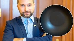 Image principale de l'article Gabriel Nadeau-Dubois pose avec son wok