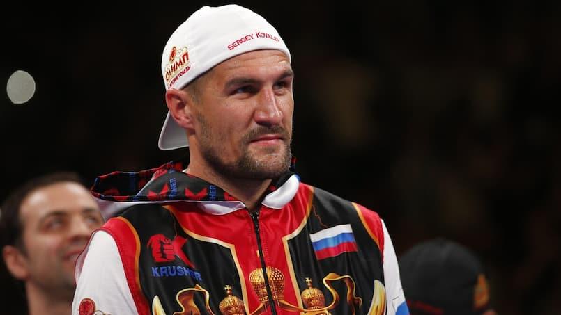 Une grosse bourde de Sergey Kovalev