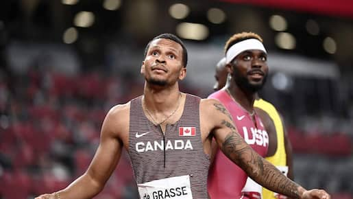 J.O.: Un record canadien et un billet pour la finale pour Andre De Grasse