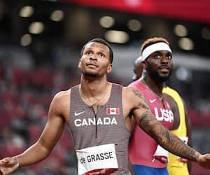 Andre De Grasse a signé un record canadien lors de sa demi-finale du 200m, mardi. Aaron Brown participera aussi à la finale, mercredi matin.
