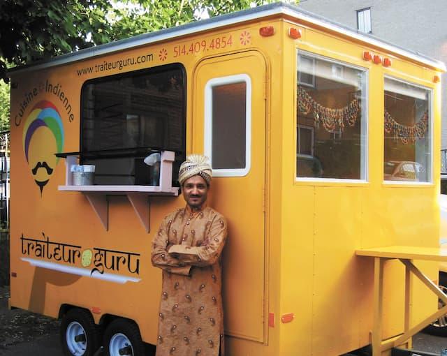 Le camion de cuisine de rue Traiteur Guru fait partie des huit nouveaux joueurs de la saison 2015. Son chef coloré Amar Choudhry est le seul à proposer de la cuisine typiquement indienne à Montréal.